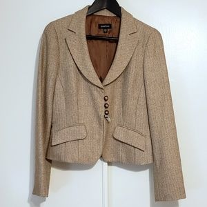 Bebe Tweed Herringbone Blazer